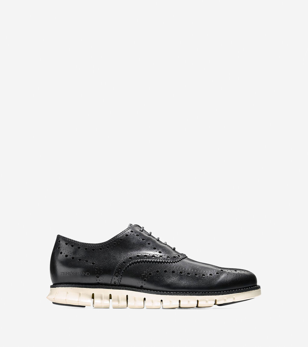 99dc32b1bc Men's ZERØGRAND Wingtip Oxford in Black-white | Cole Haan US