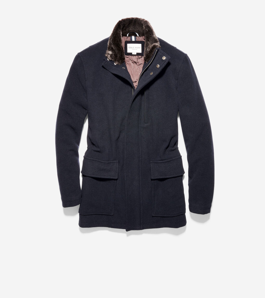 Mens Wool Plush Parka