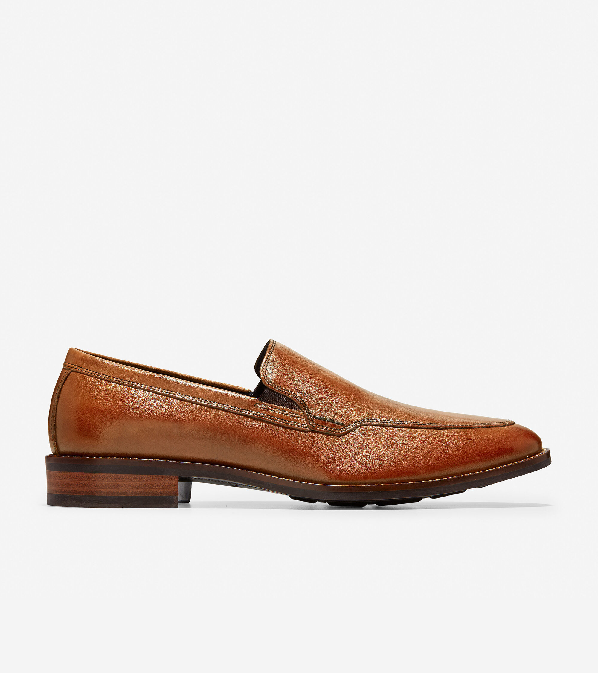 Leather upper. Fully leather lined. Sleek, full rubber outsole.