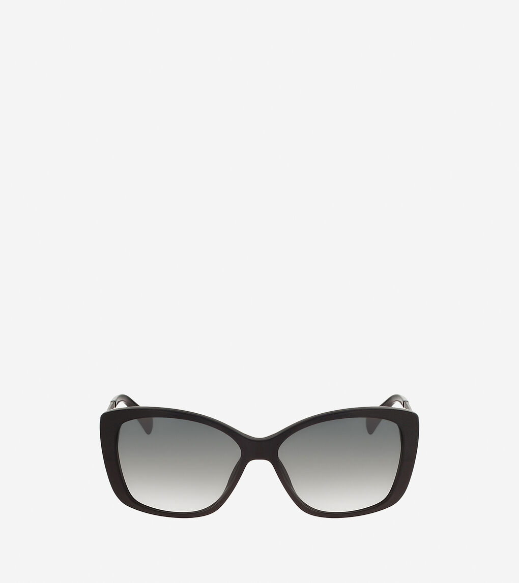 Womens Cat Eye Sunglasses With Leather