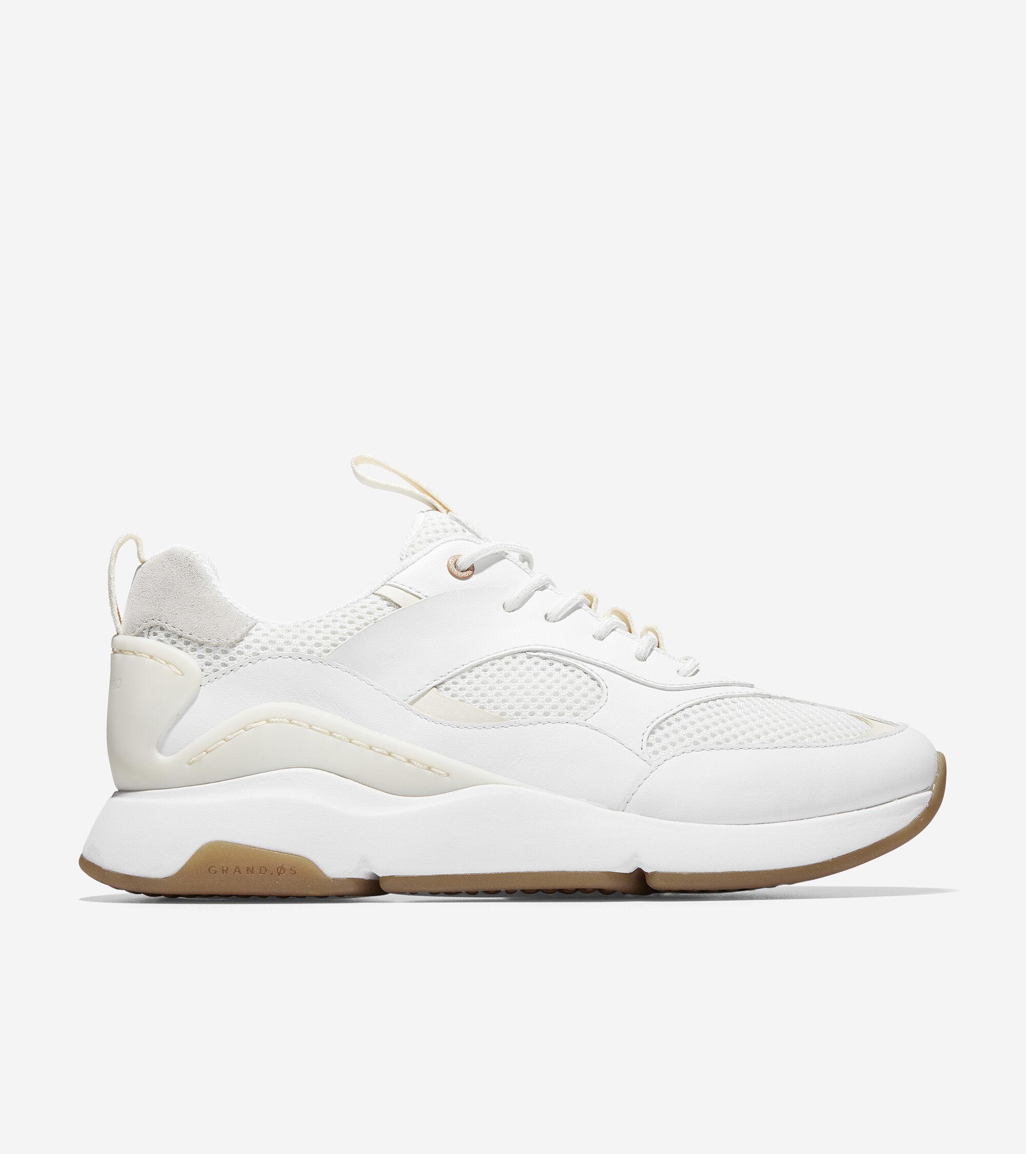 City Sneaker in Optic White-Camel