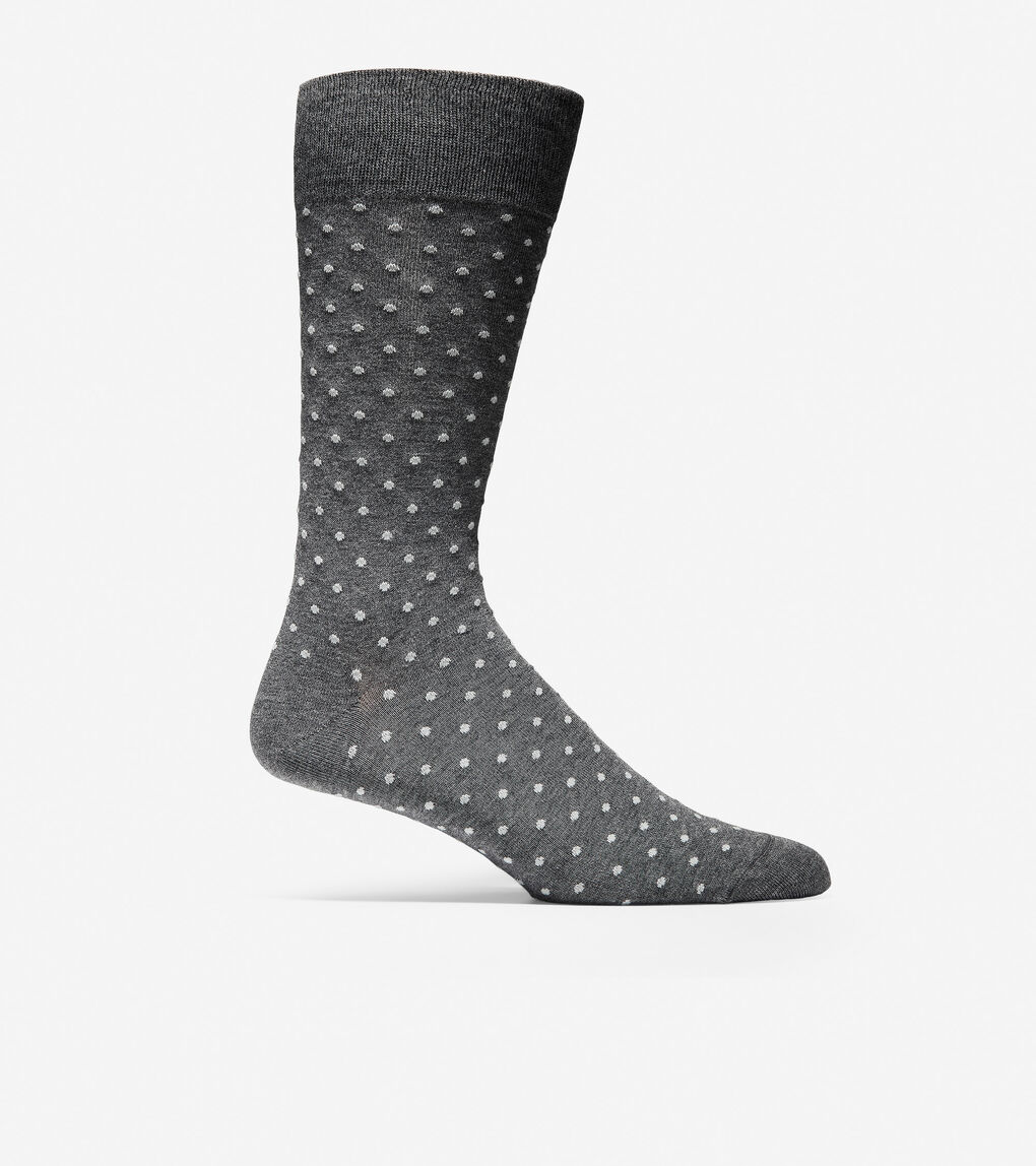 Mens Simple Dot Crew Socks