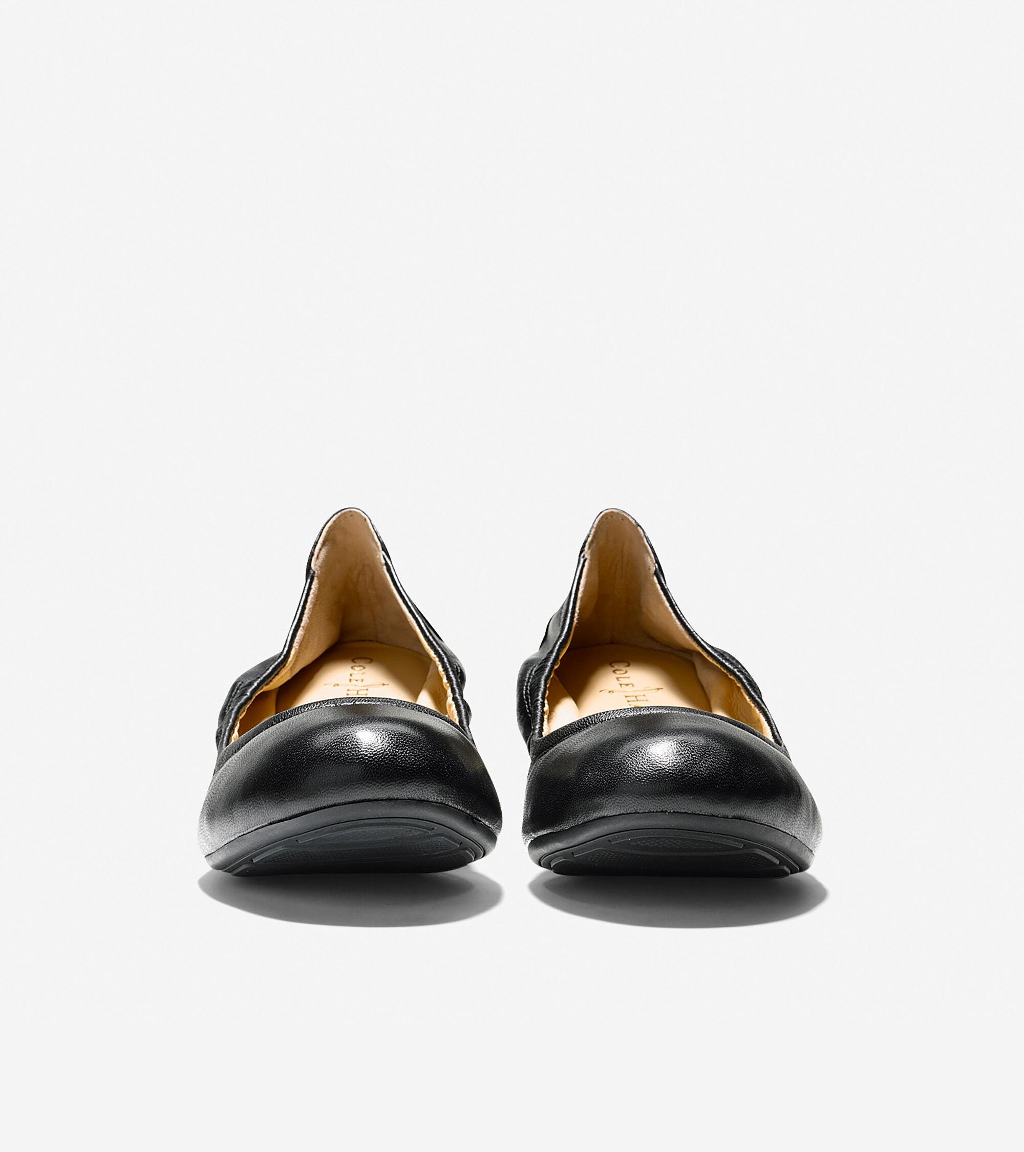 Manhattan Flats: Women's Manhattan Ballet Flats In Black Leather