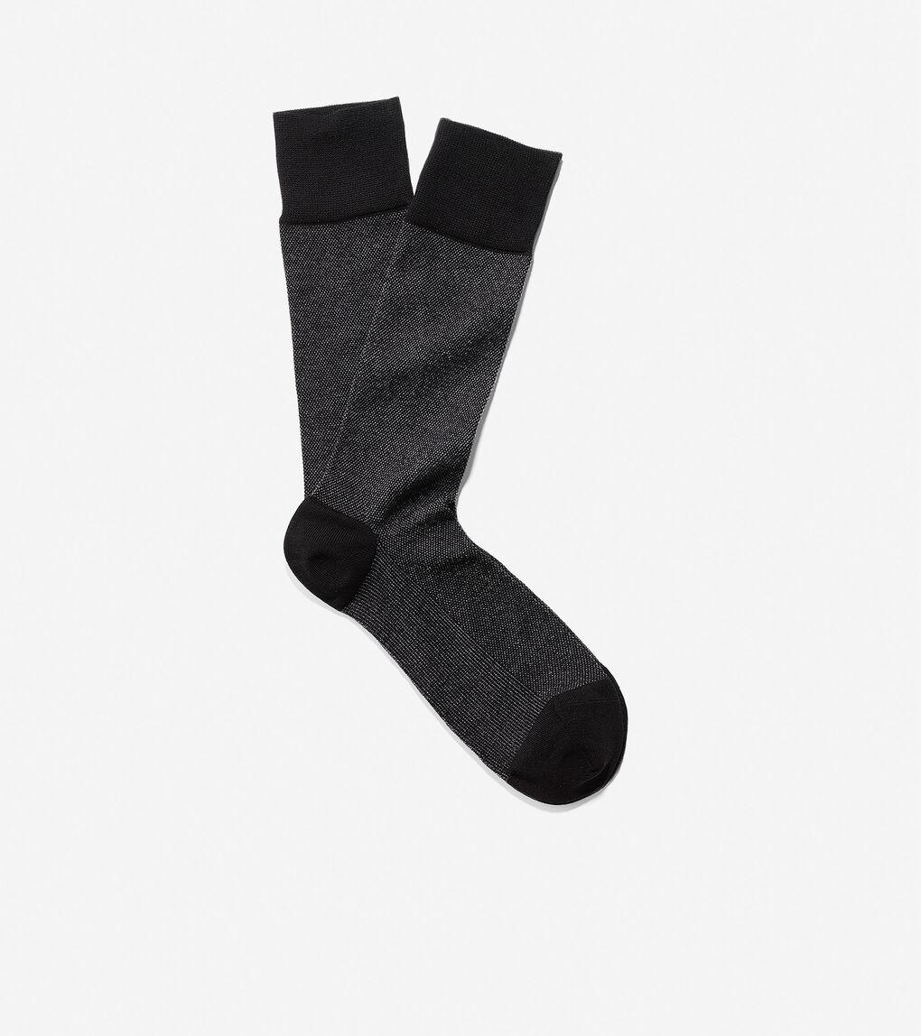 Mens Pique Textured Crew Socks