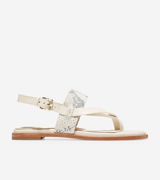 c9b58853a117 Women s Anica Thong Sandals in Ivory Snake Print