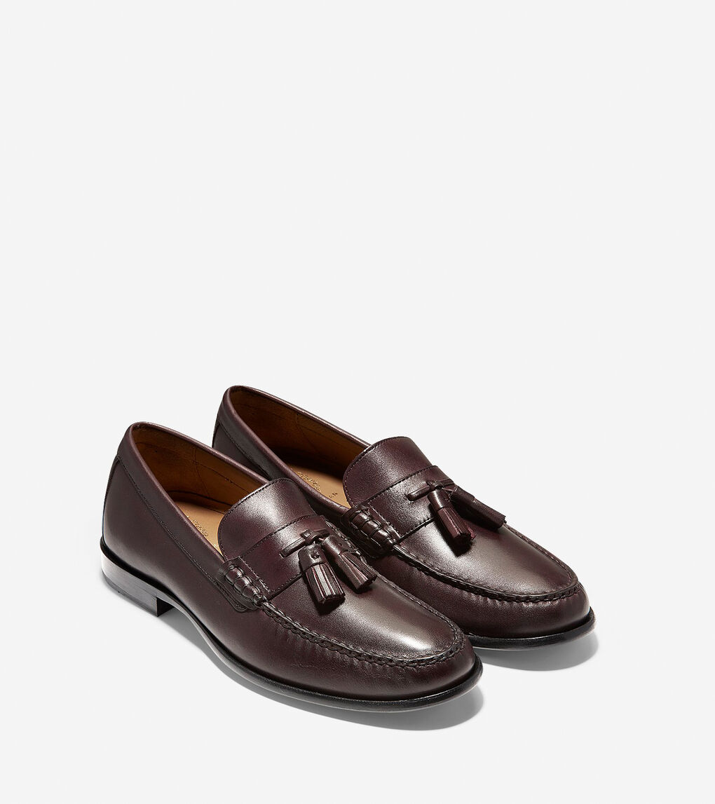 Men's Pinch Handsewn Tassel Loafer in Burgundy Handstain | Cole Haan