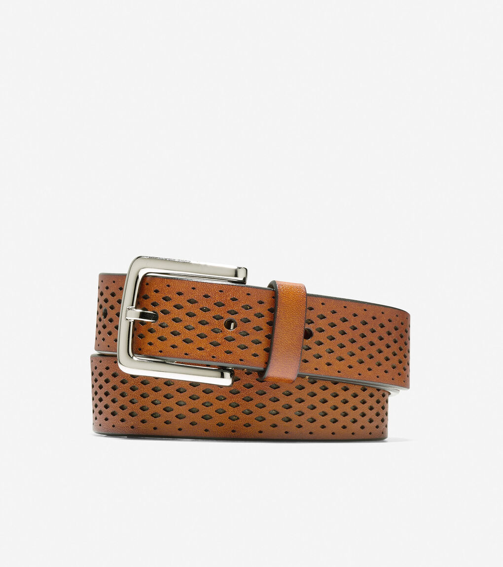Mens Washington Grand 32mm Laser Perforated Belt