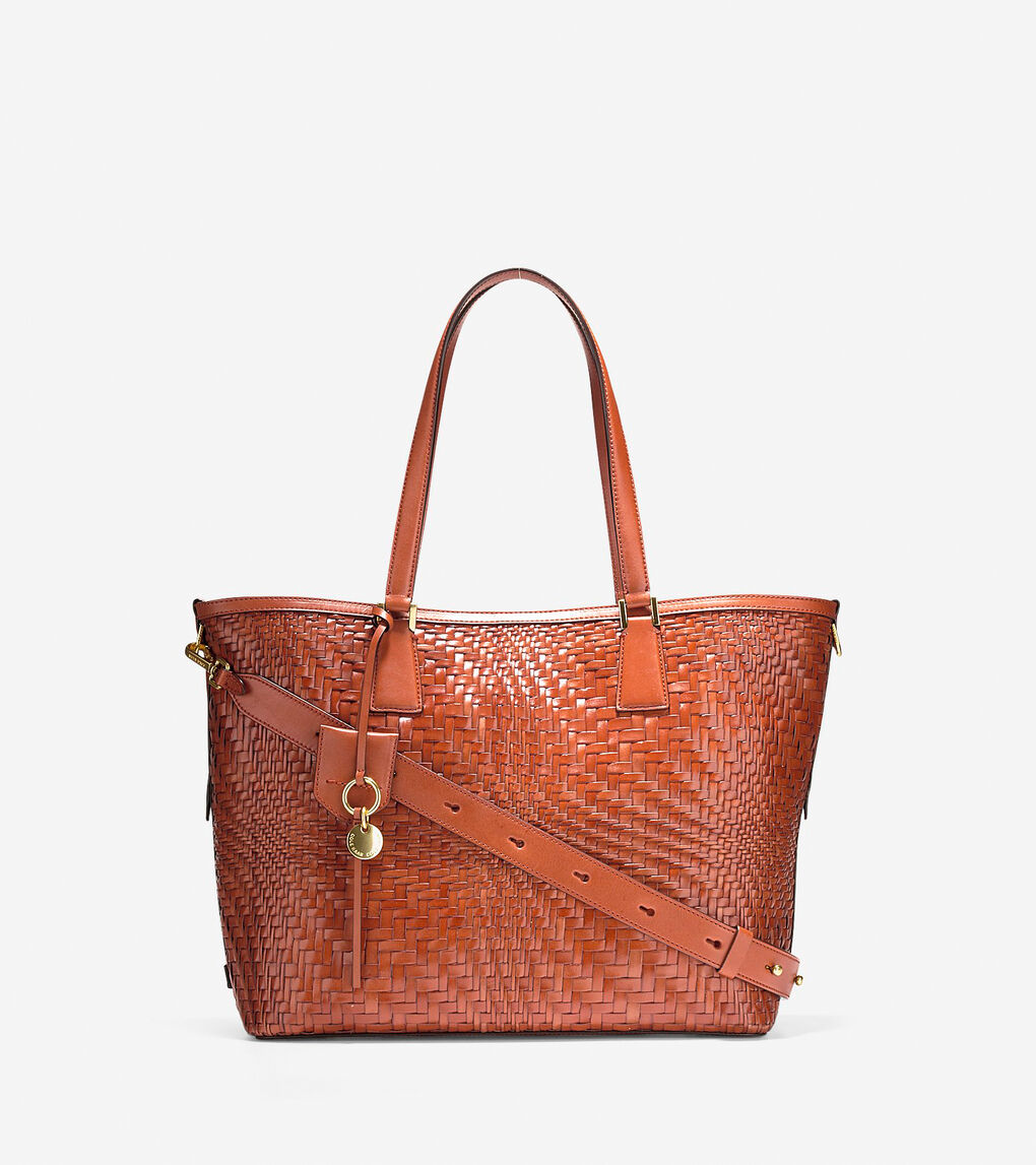 ee860d81716f Women's Genevieve Tote in Brandy Brown Leather | Cole Haan