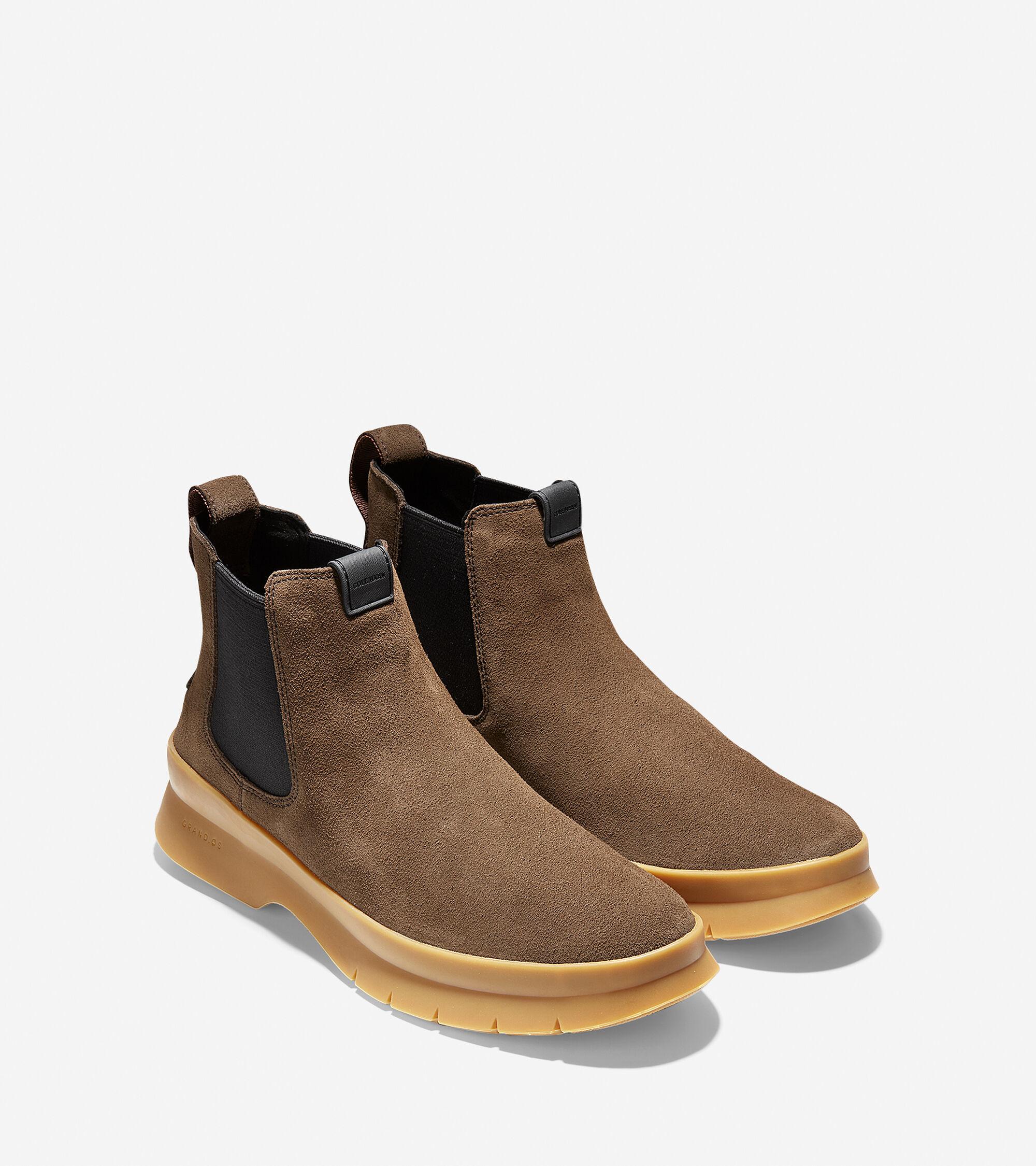 1315c6c169f Men s Pinch Utility Waterproof Chelsea Boots in Dark Brown