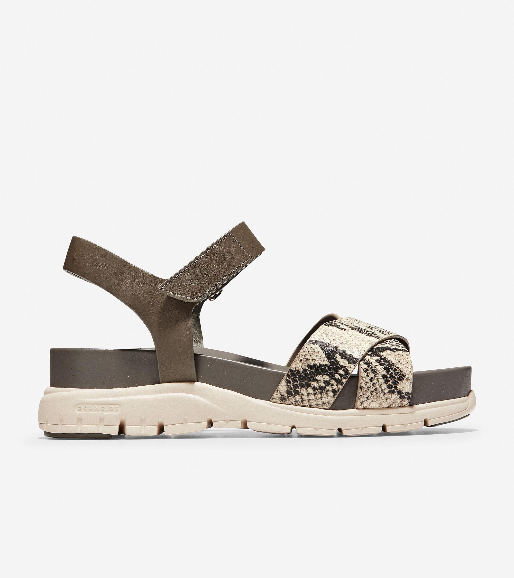 cb3b2beda Women s ZEROGRAND Crisscross Sandals in Snake Print