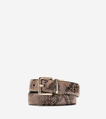 Reversible Snake Print Belt