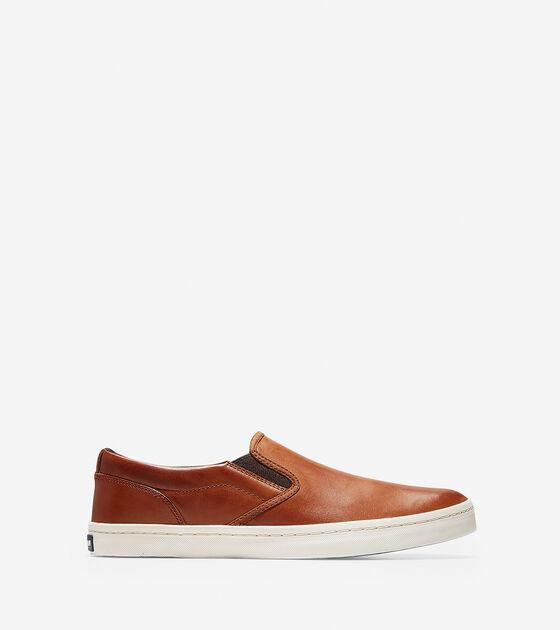 Men s Nantucket Deck Slip-On Sneakers in British Tan  4958deb2dc73