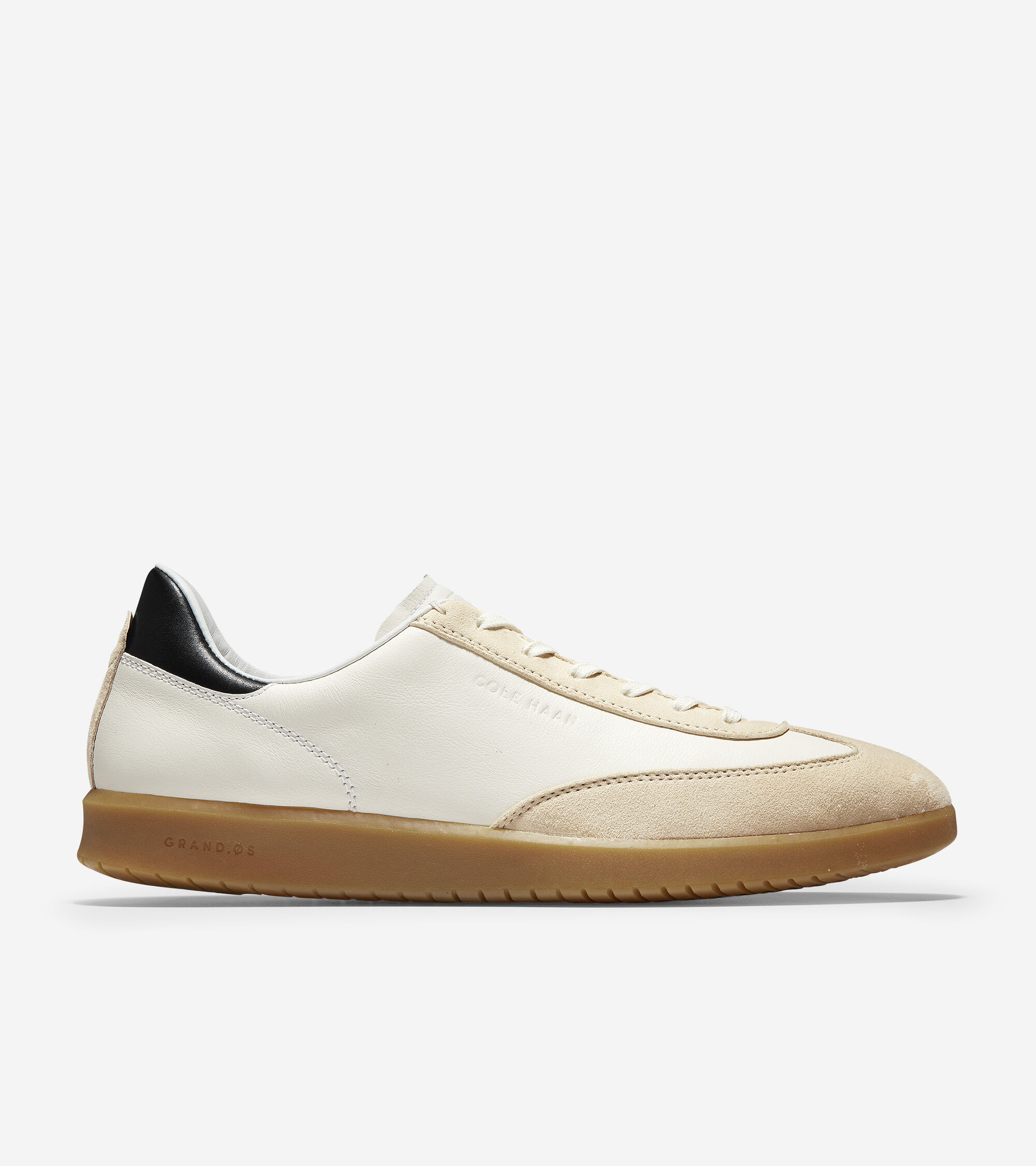 Sneaker in Ivory Tumbled-Stone Suede