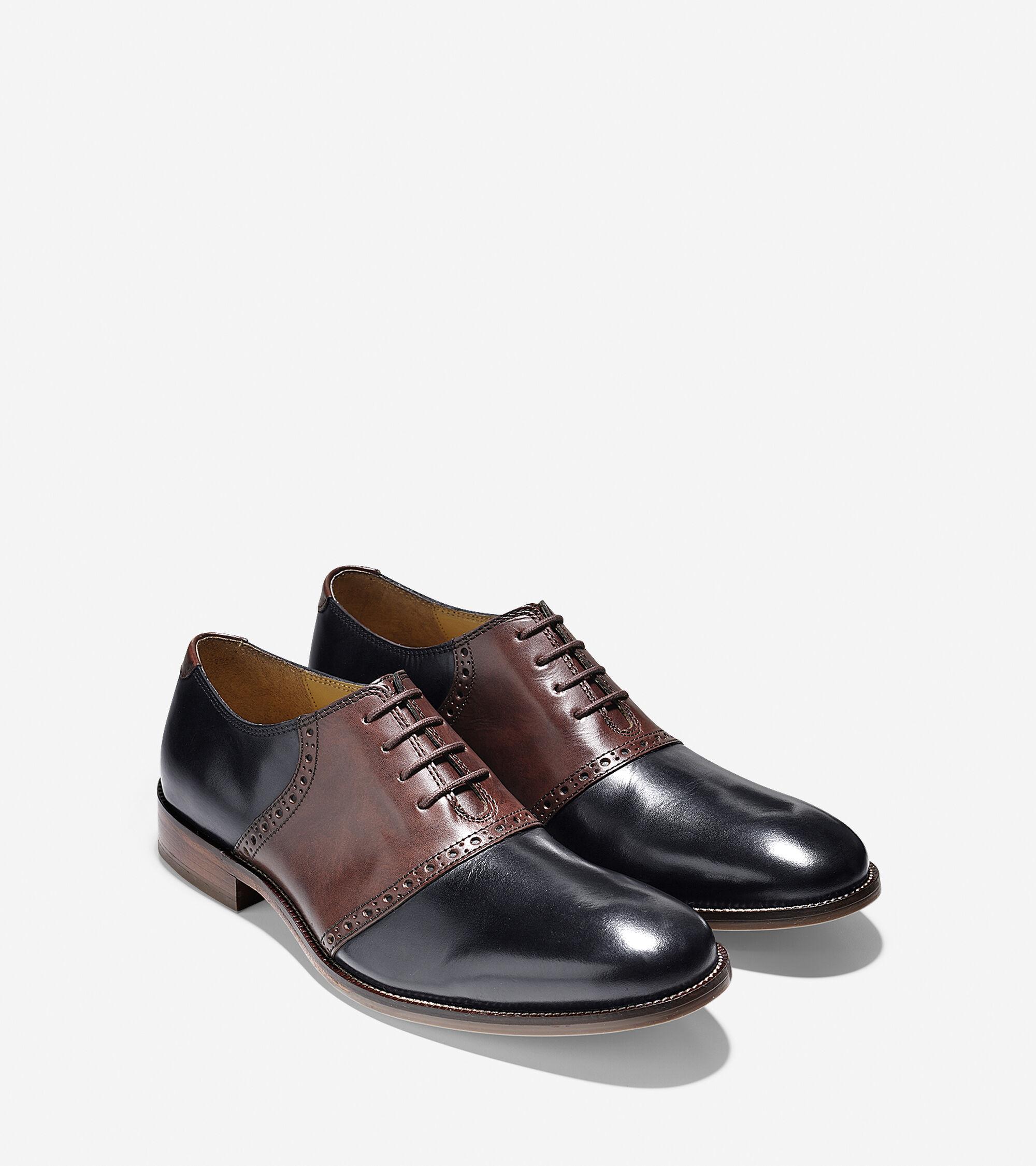 b0dd14039e3 Mens Leather Saddle Shoes - Image Of Shoes