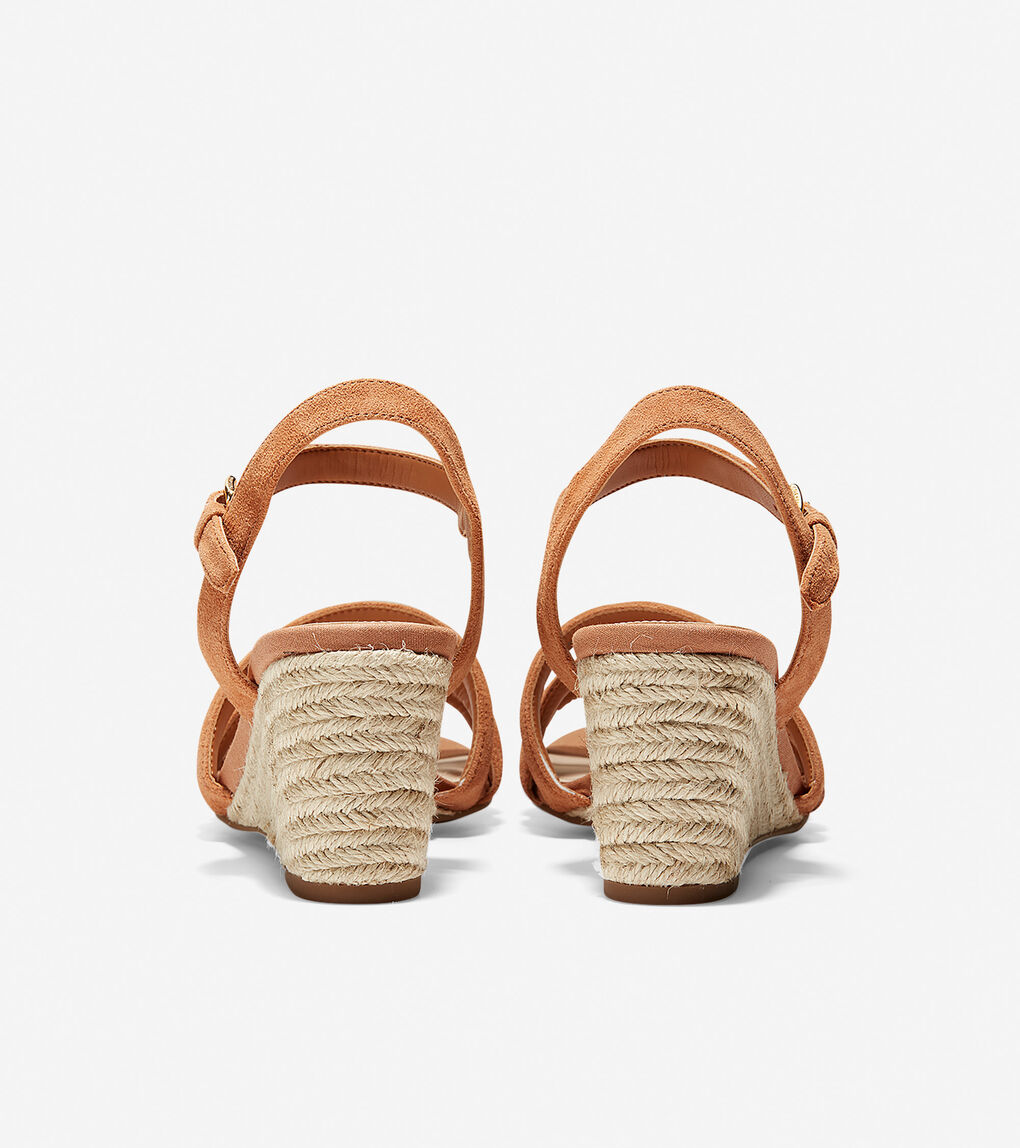 Womens Jasmine Espadrille Wedge Sandal (60mm)