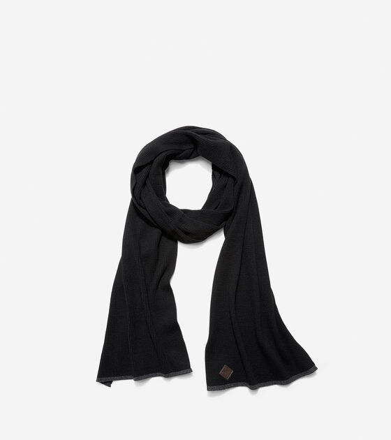 Hats, Gloves & Scarves > Cashmere Blend Tipped Rib Muffler Scarf