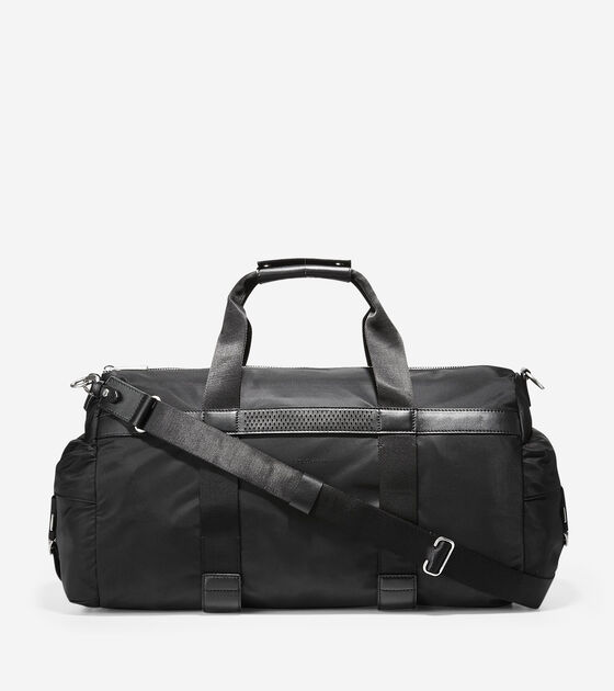 Men s Grand.OS City Duffle in Black Nylon-Leather Trim  81c699ddb3a5f