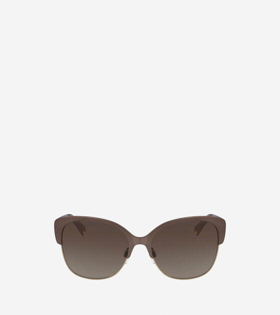 Accessories > Metal Acetate Weave Butterfly Sunglasses