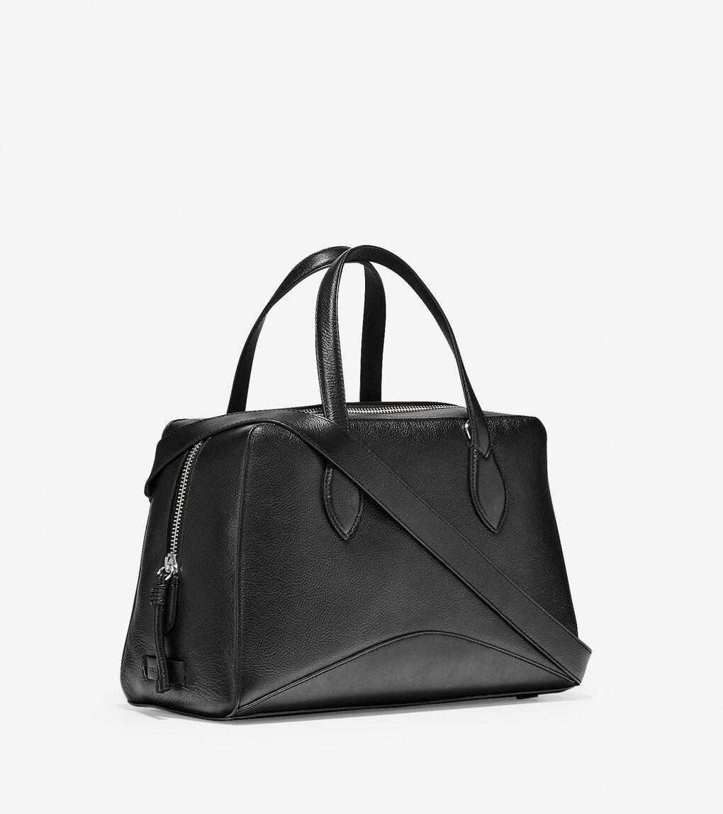 Womens ZERØGRAND Leather Satchel