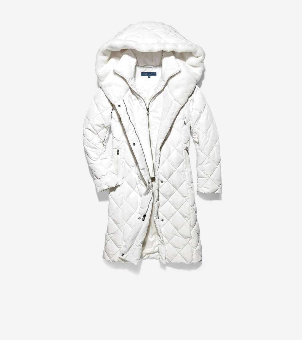 Womens Diamond Quilted Essential Down Coat