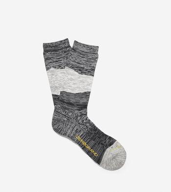 ZERØGRAND Melange Color-Block Crew Socks