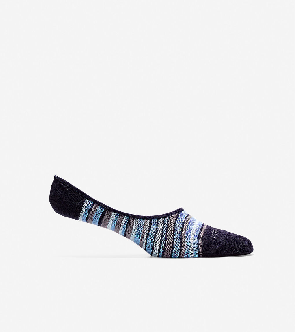 Mens Town Stripe No-show Sock Liner - 2 Pack