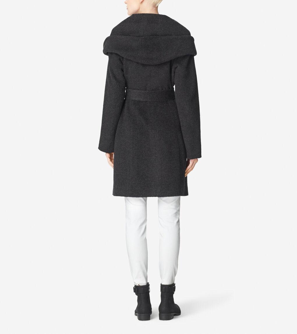 Womens Suri Alpaca Belted Coat