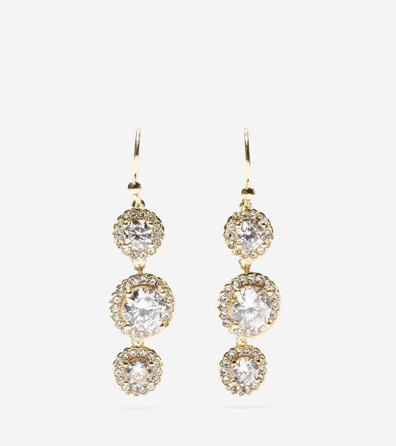Accessories Outerwear 3 Stone Cz Drop Earrings