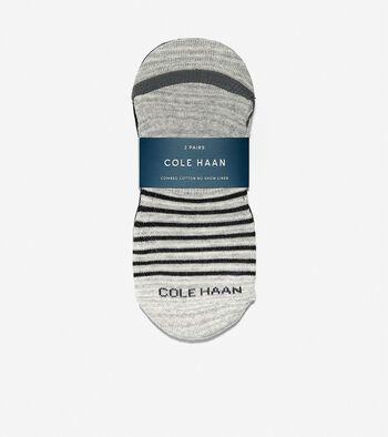 Cotton Twist No-Show Sock Liners - 2 Pack