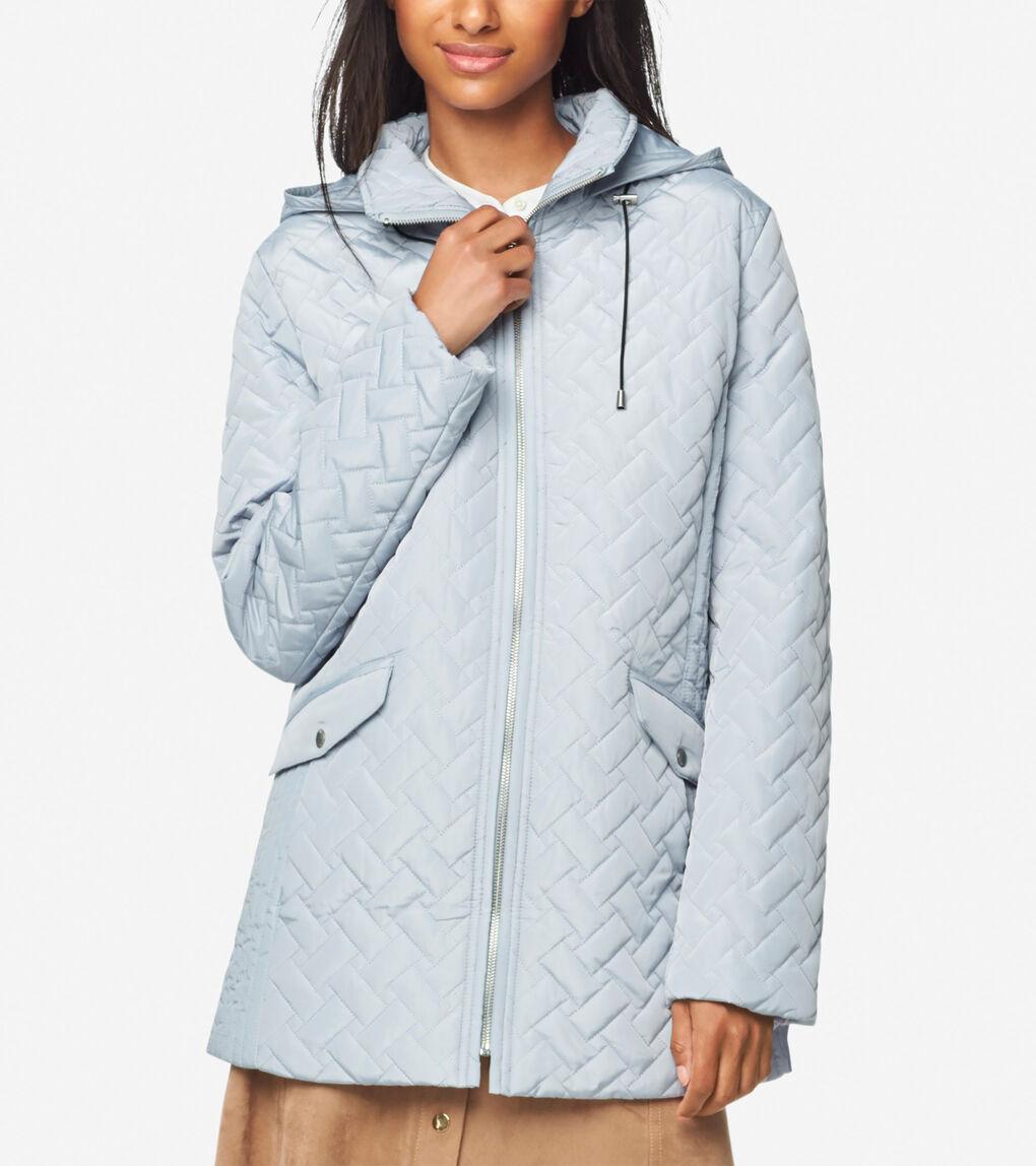 Womens Signature Barn Jacket With Hood