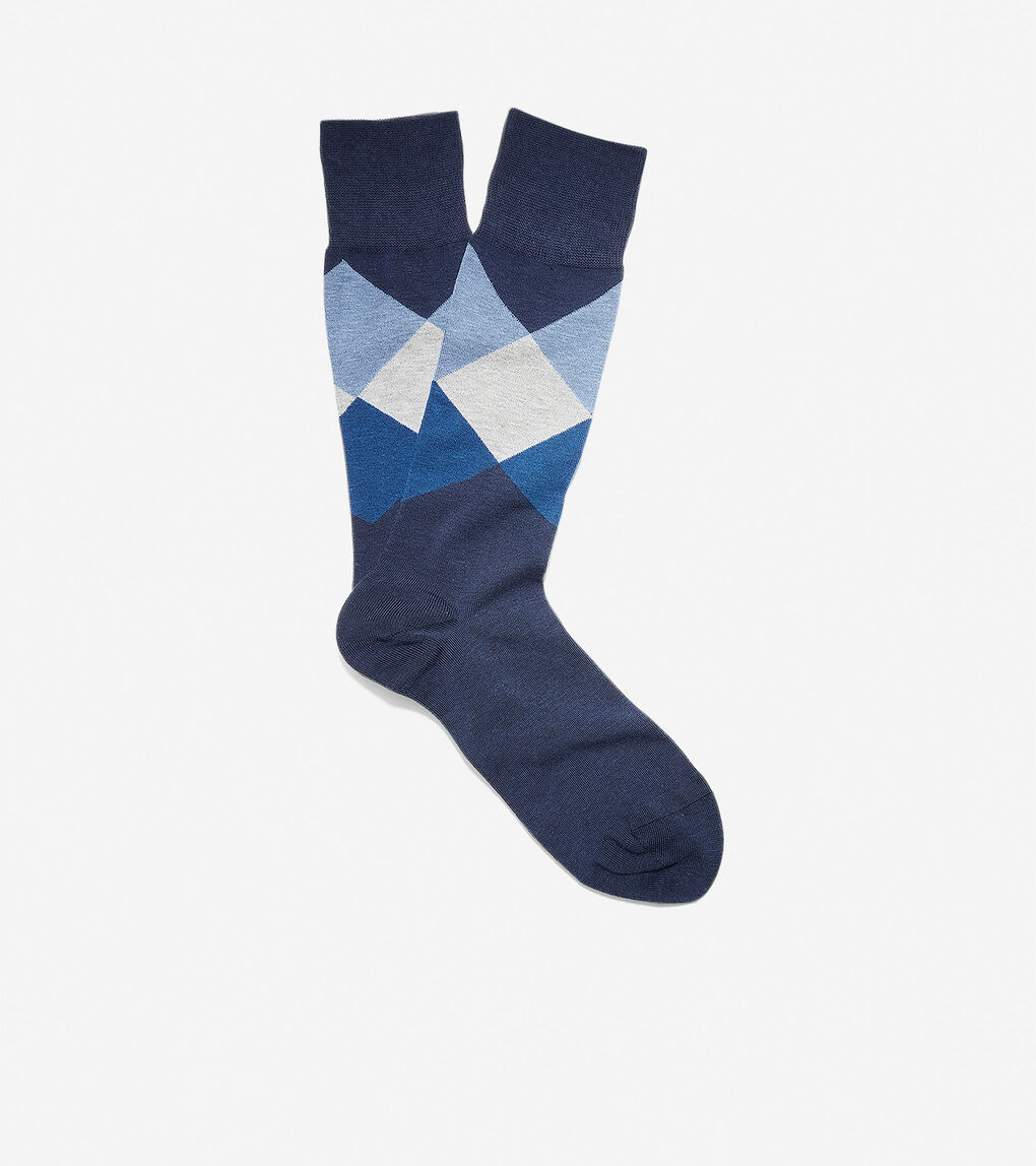 Mens Large Diamond Crew Socks