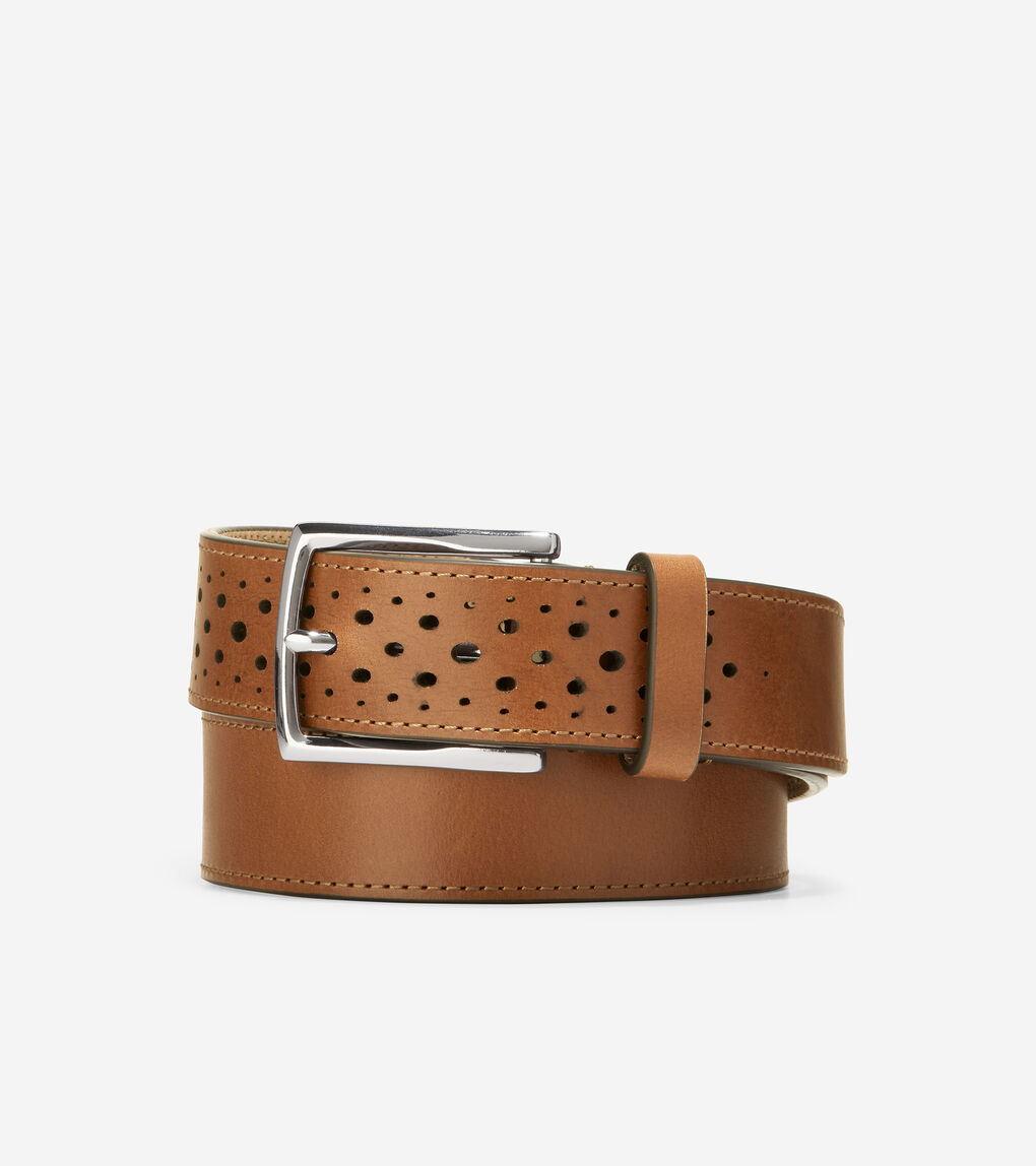 MENS Washington Perforated Cut Edge 32mm Belt