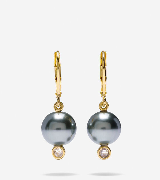 Accessories Starry Pearl Leverback Earrings