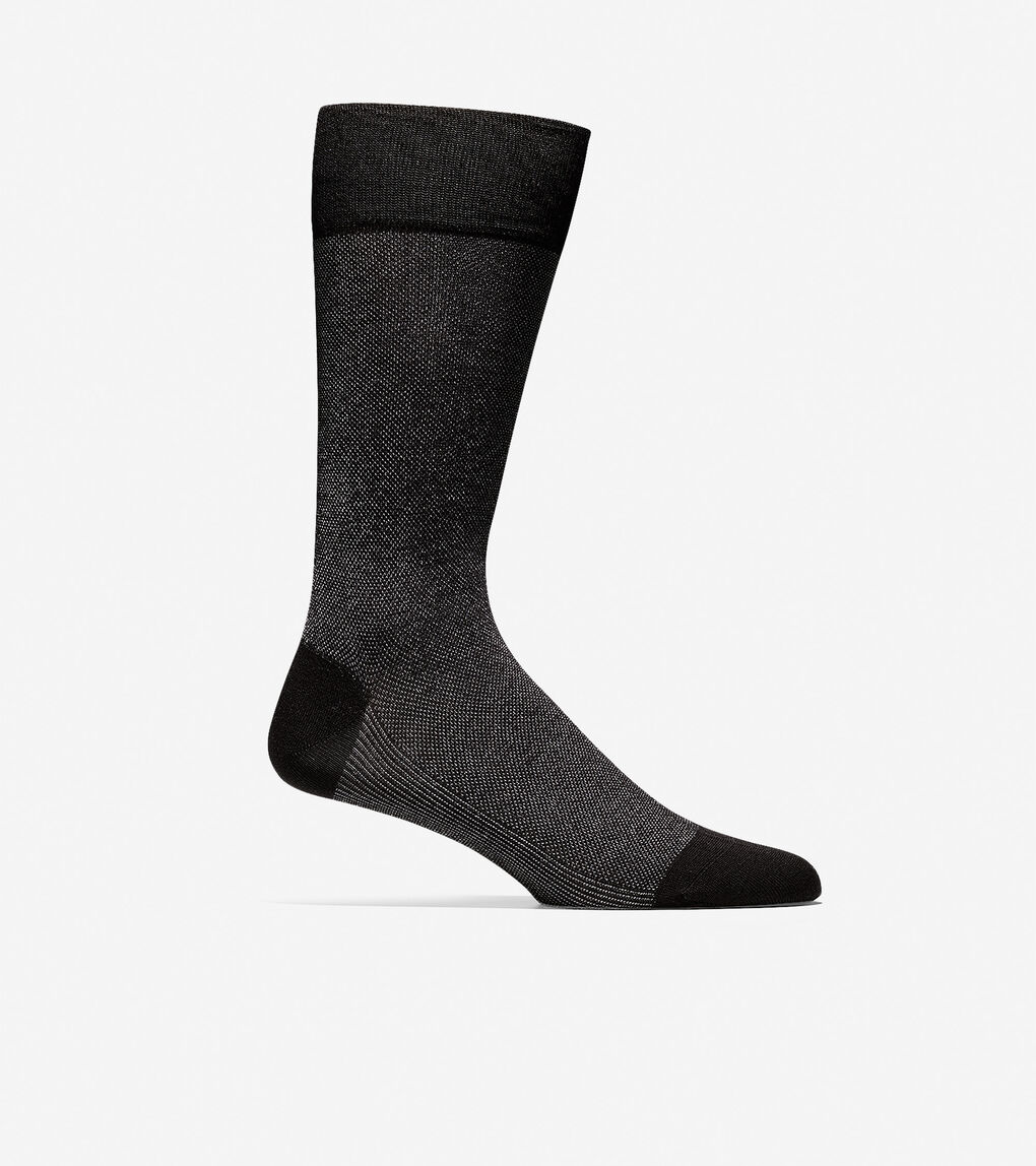 Mens Pique Textured Crew Socks