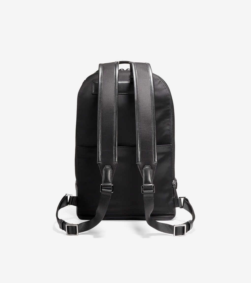 Mens GRANDSERIES Nylon and Leather Backpack
