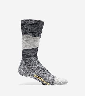 Men's ZERØGRAND Melange Color-Block Crew Socks