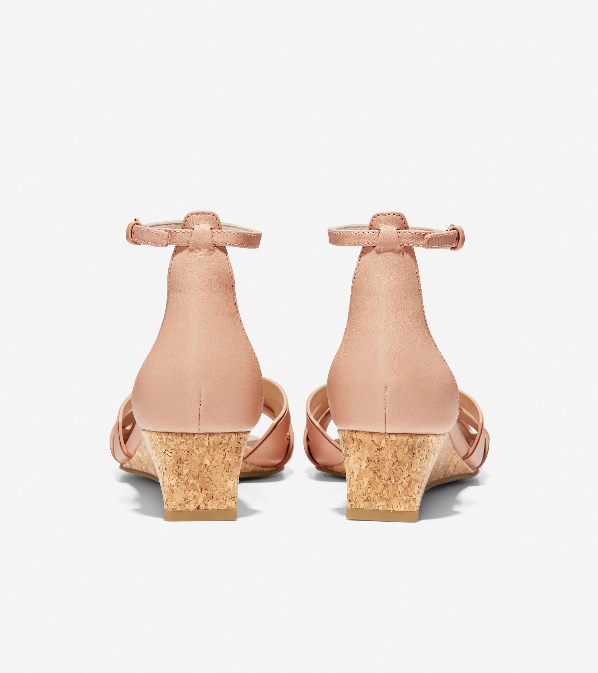 952f0335b Cole Haan Hana Grand Wedge in Mahogany Rose Leather-Patent Cork ...