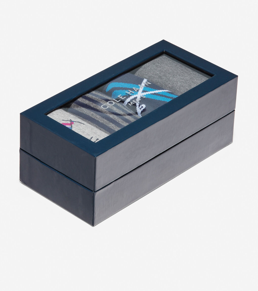 Mens 4 Pair Skiing Print Sock Gift Box