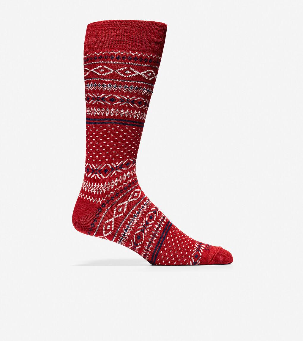 Mens Classic Fair Isle Crew Socks