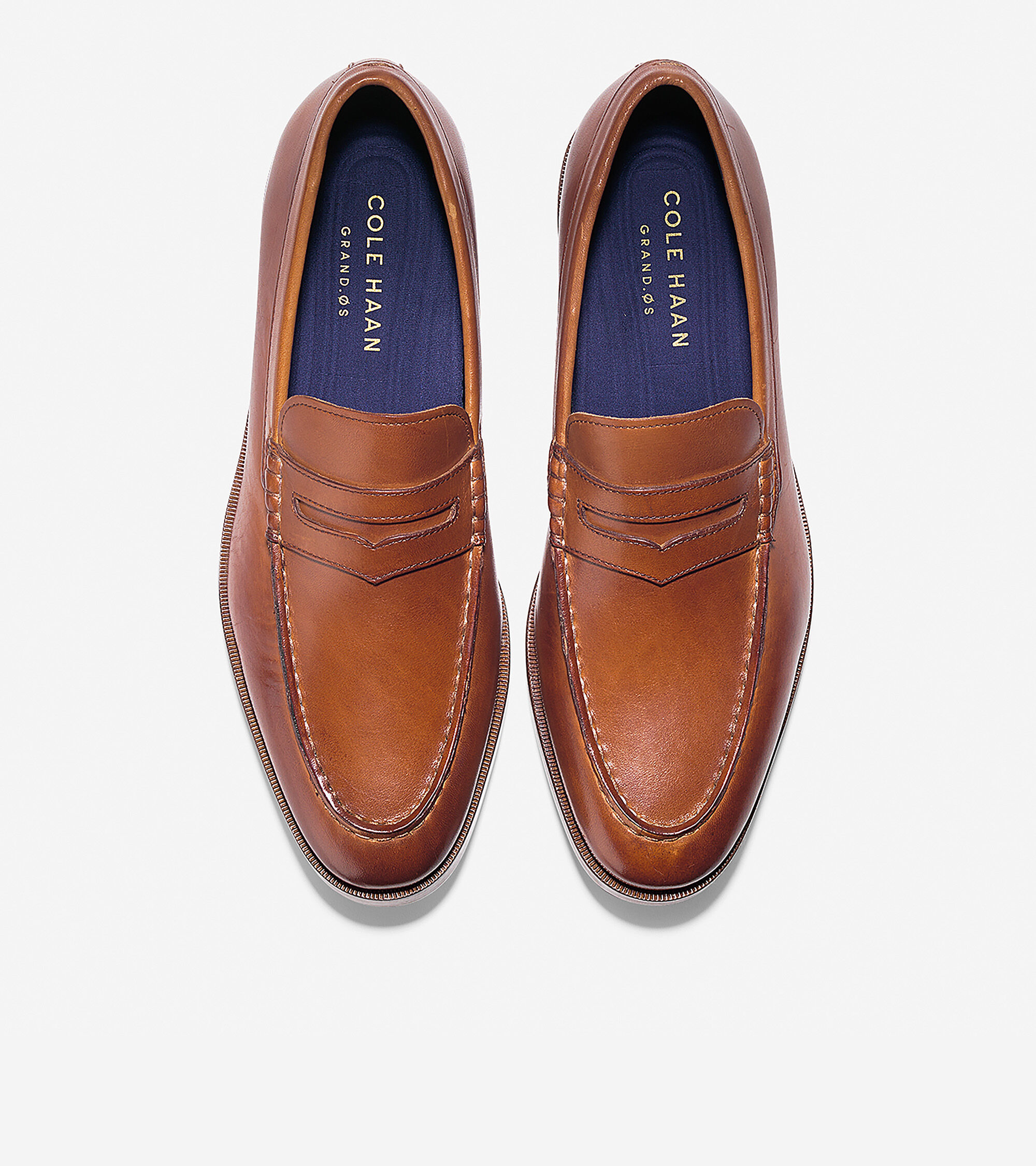 Men's Hamilton Grand Penny Loafers in British Tan | Cole Haan