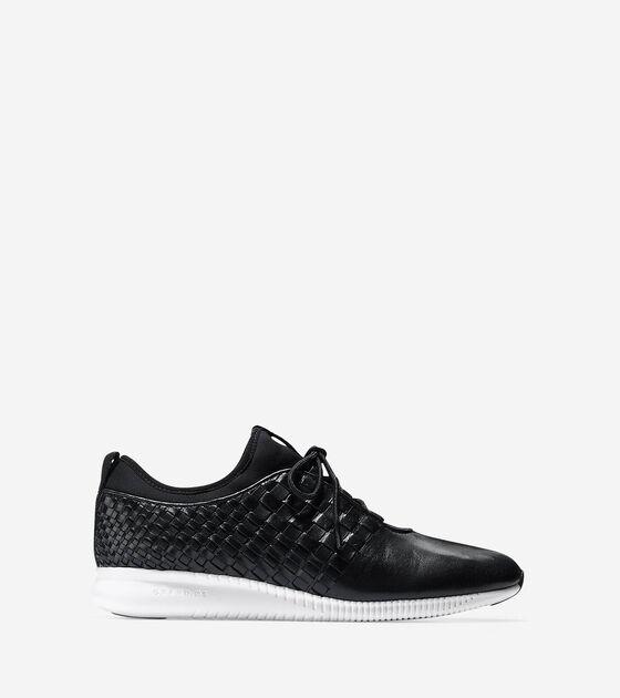 7c330fc4dadb Women s StudioGrand Weave Sneakers in Black-White