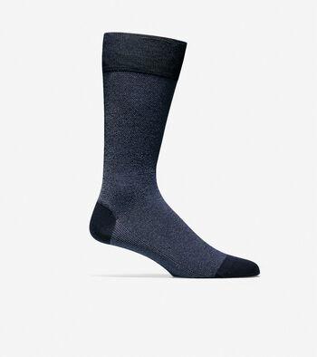 Pique Textured Crew Socks