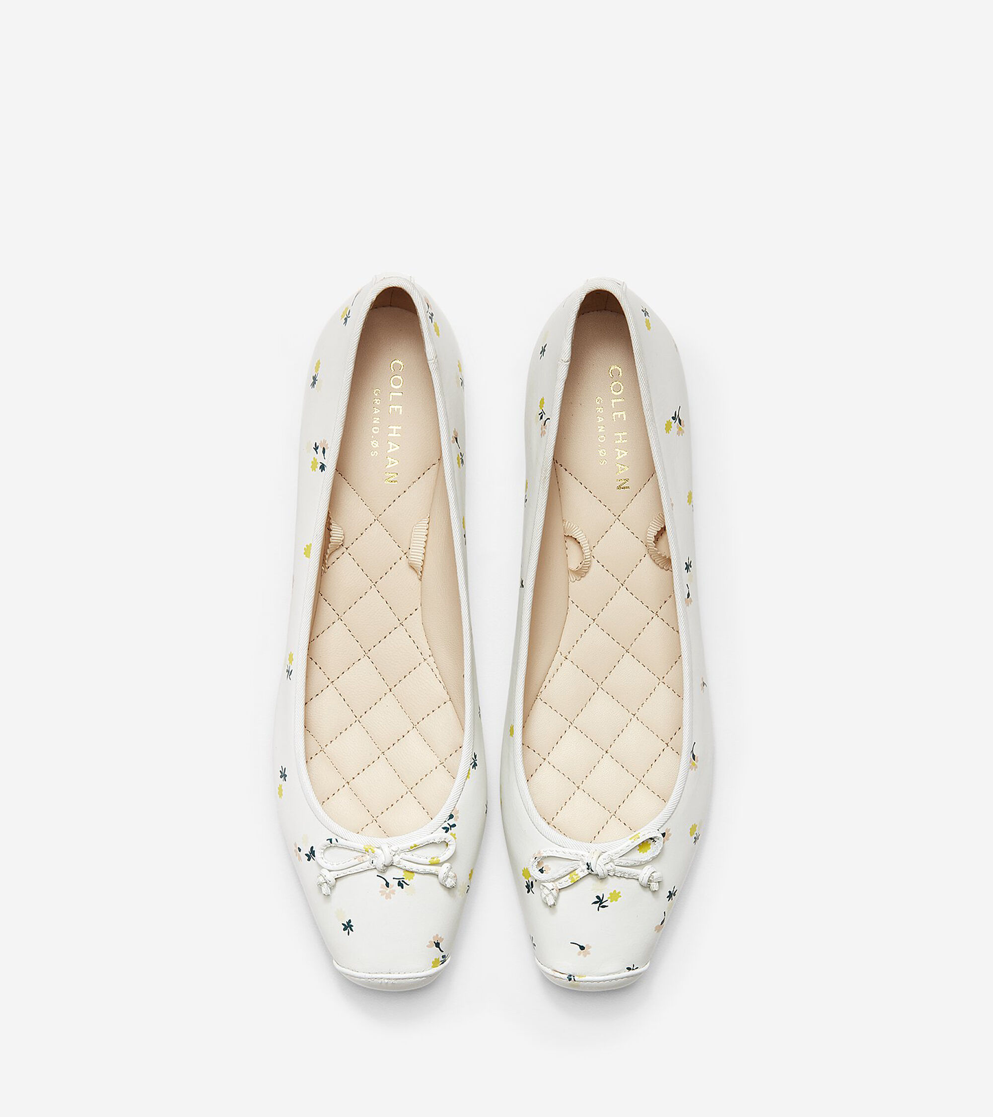 ed60aa0a9ff Women s Downtown Ballet Flats in White Floral Print