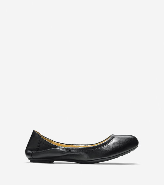 ee25d3fa9363 Women s Manhattan Ballet Flats in Black Leather