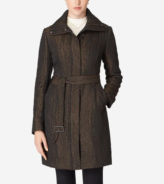 Accessories & Outerwear > Genevieve Weave Coat