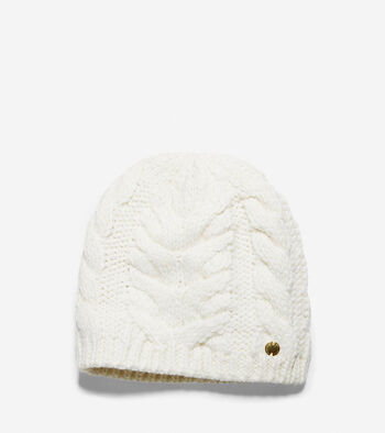Lofty Cable Elongated Beanie