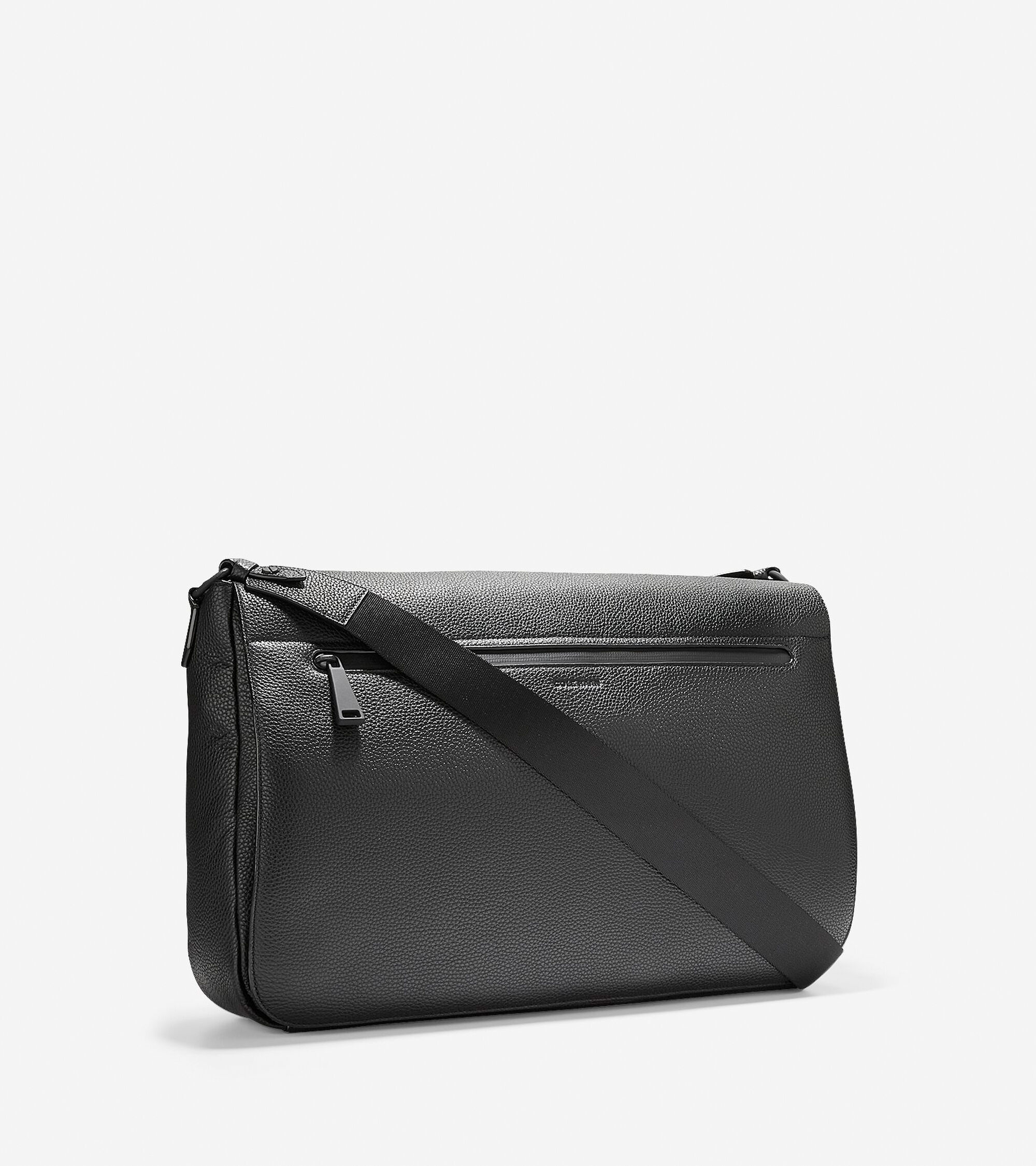 daacbd4c7c4a Men s Grand.OS Leather Messenger Bag in Black