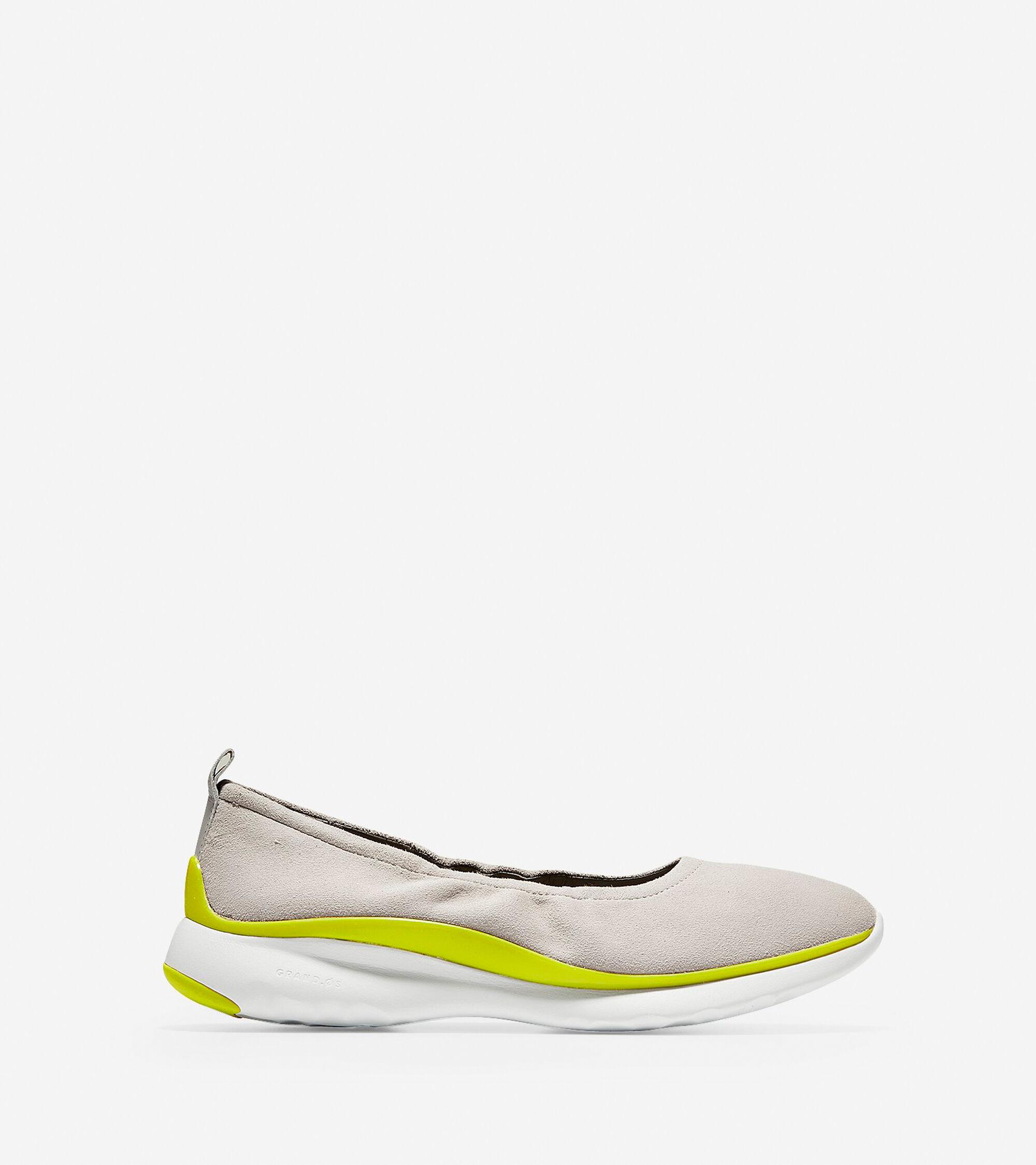 d134eecbb1f Women s 3.ZEROGRAND Ruched Slip-On Ballet Flats in Dove
