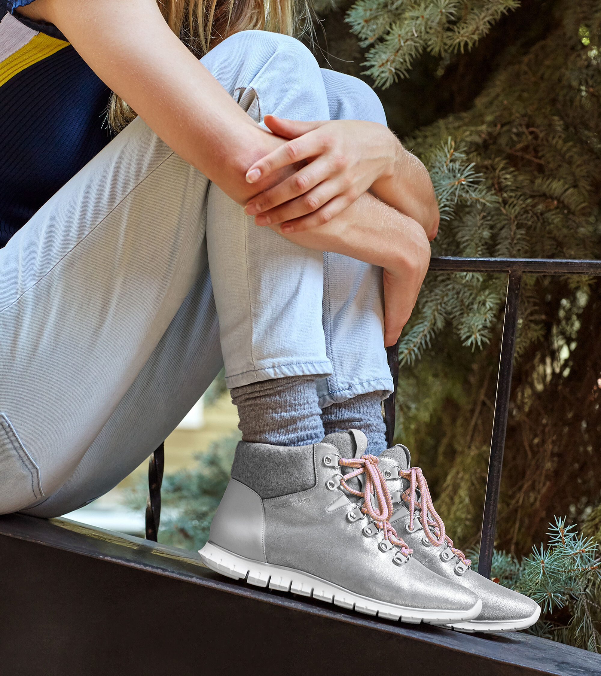 57c692f40a5 Women's ZEROGRAND Hiker Boots in Argento | Cole Haan