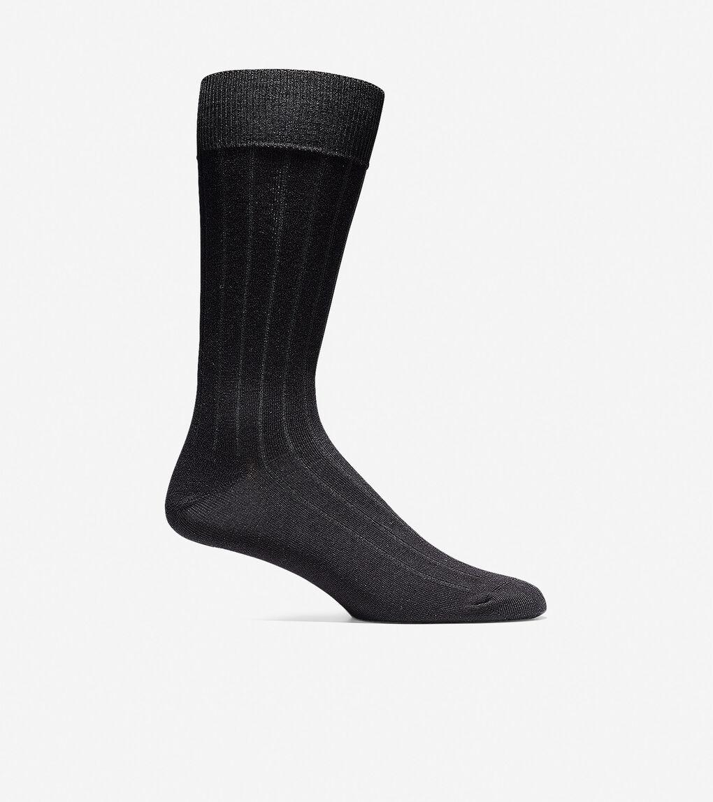 Mens Ribbed Crew Socks